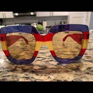 Authentic Gucci Square-frame acetate sunglasses